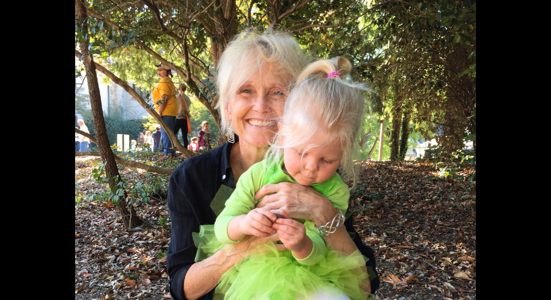 Lynn with one of her much-beloved grandchildren